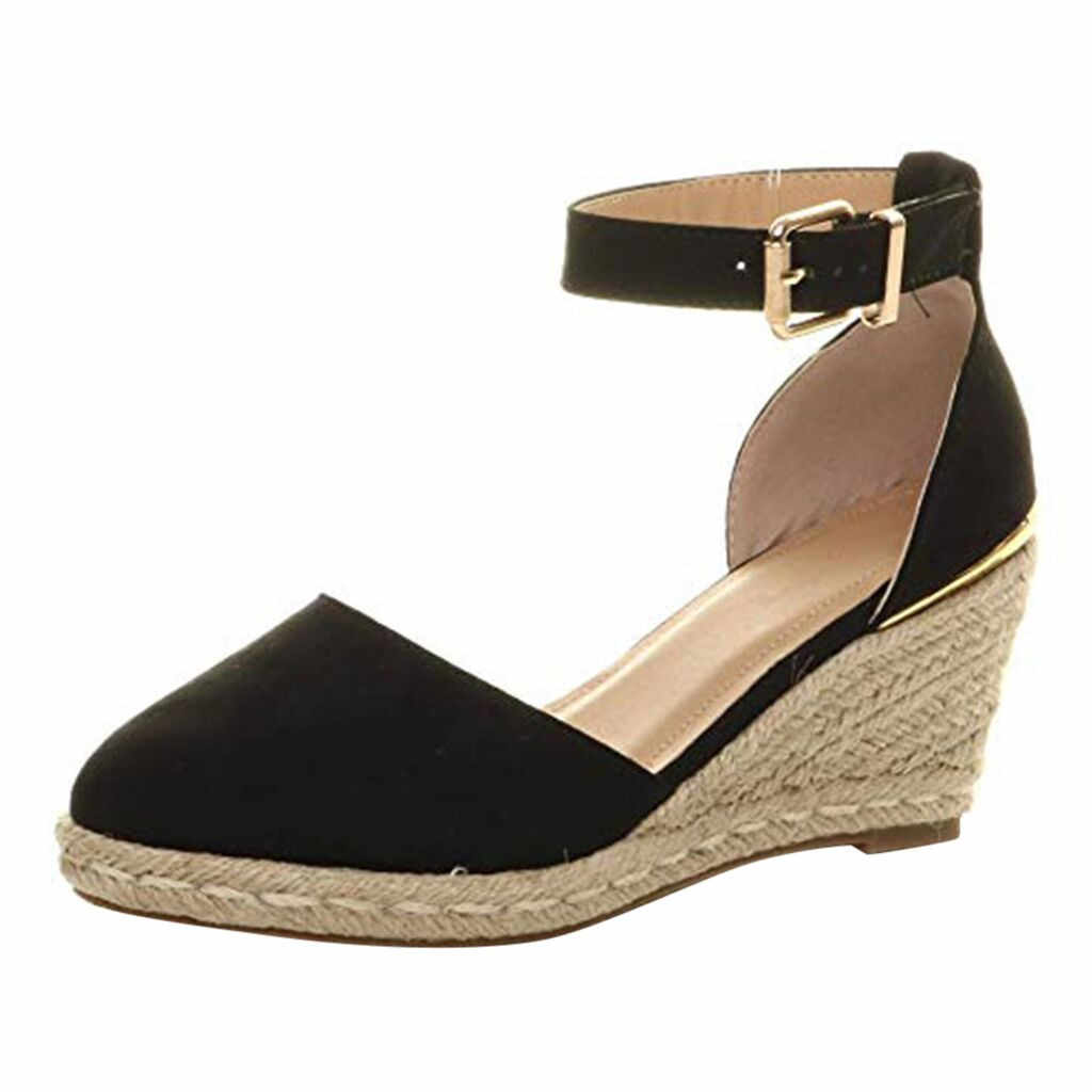 feb5fd5bc8a Detail Feedback Questions about Straw sandals Wedge Espadrilles ...