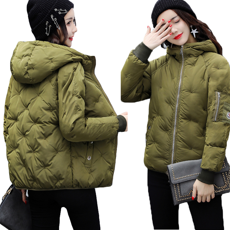 Winter Jacket Women Hooded Coats Woman   Parkas   Coat Thicken Warm Winter Woman Wadded Jacket Student Jacket Thick   Parka   Jackets