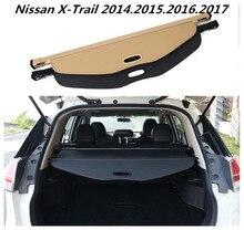 Jioyng автомобиля задний багажник защитный лист для багажника Крышка для Nissan X-Trail 2014.2015.2016.2017 черного и бежевого цвета