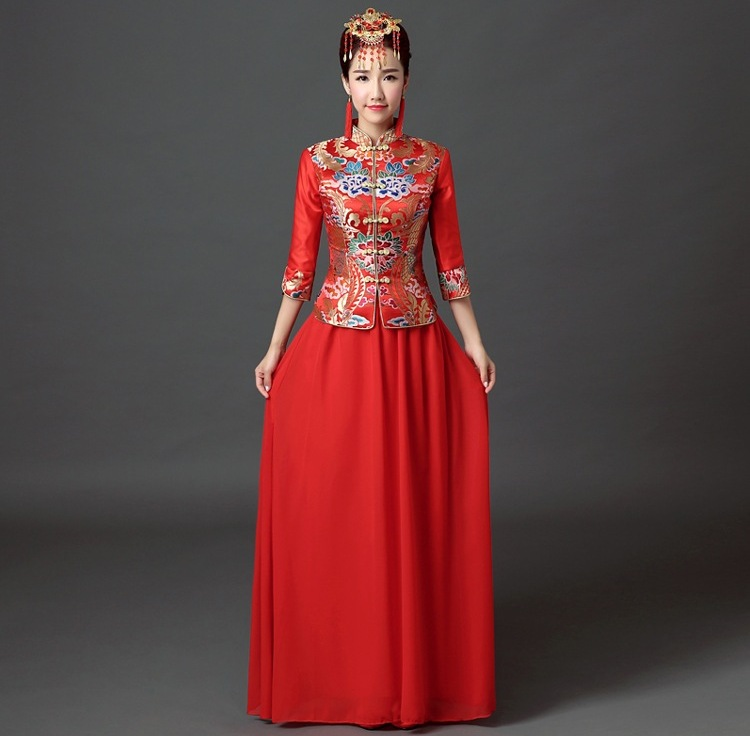 wholesale traditional chinese wedding dress