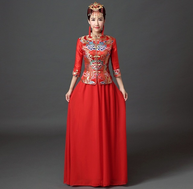 Shanghai Story traditional chinese wedding dress Qipao National ...