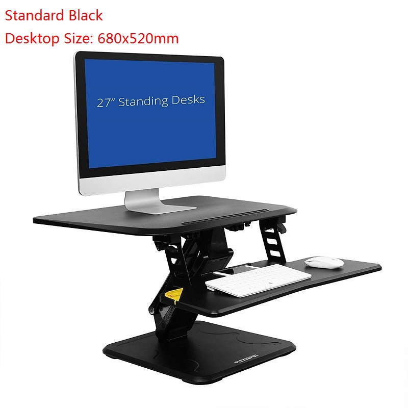 Stand Up Desk >> Us 158 64 47 Off Standing Desk Converter Height Adjustable Stand Up Desk Riser W Quick Release Removable Keyboard Tray In Tv Mount From Consumer