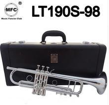 Бах Stradivarius Professional Bb трубы LT190S-98 посеребренные Instrumentos Musicales Profesionales с случае мундштук