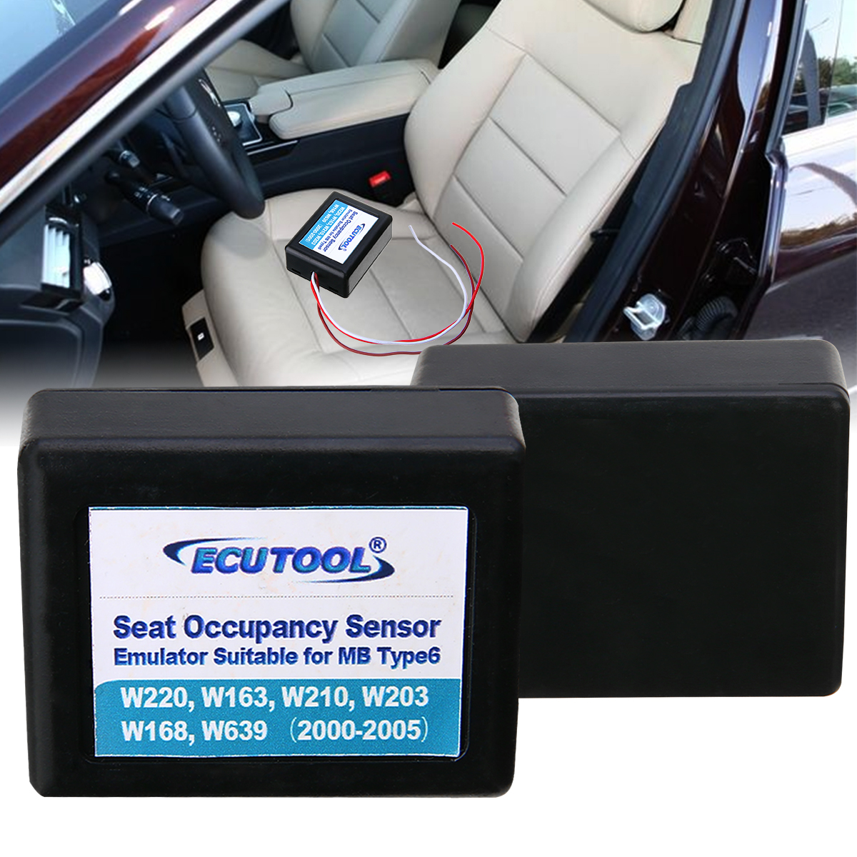 New Arrival 1pc 12V Red Seat Occupancy Occupation Sensor SRS Emulator GND For Mercedes Benz Type6