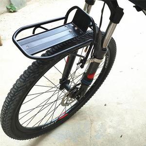 Liga de alumínio da bicicleta carga frente rack mtb bicicleta rack de bagagem liberação rápida ciclismo mercadorias transportadora pannier suporte carga 10kg