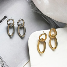 New metal Brinco geometrical irregular women earrings girl Womens perforation delicate Suitable for ladies PROM