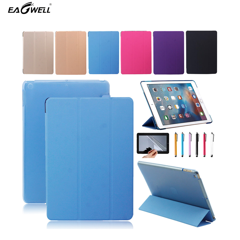 Fold Leather Cover Case For New Apple iPad 2017 9.7 inch Tablet PC Translucent Smart Stand Case  Free screen protector+stylus ultra thin smart flip pu leather cover for lenovo tab 2 a10 30 70f x30f x30m 10 1 tablet case screen protector stylus pen