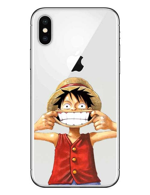 One Piece Luffy Series Clear Cover Case For iPhone Models