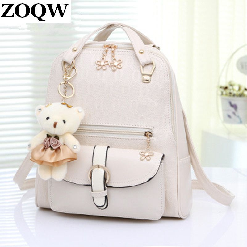2016 Teenage Girls Fashion Backpacks Travel Work Japan Korean Bags Pu Women Panelled Patchwork