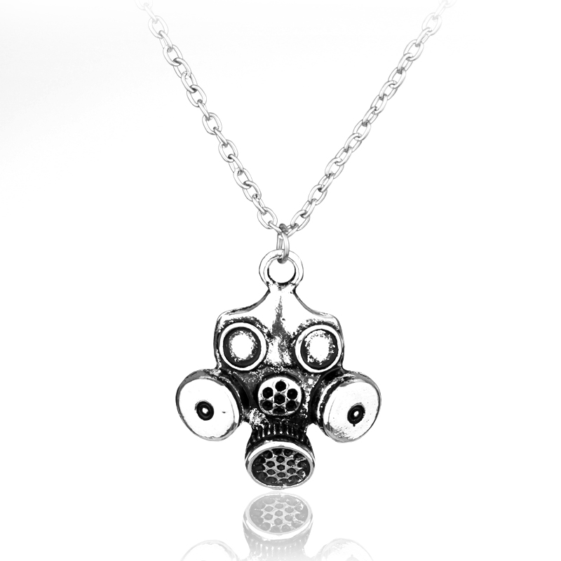 MQCHUN Jewelry Doctor Who Steampunk Oddities Apocalypse Themde Gas Mask Pendant Choker Necklace Collier Cool Gift For Women Men