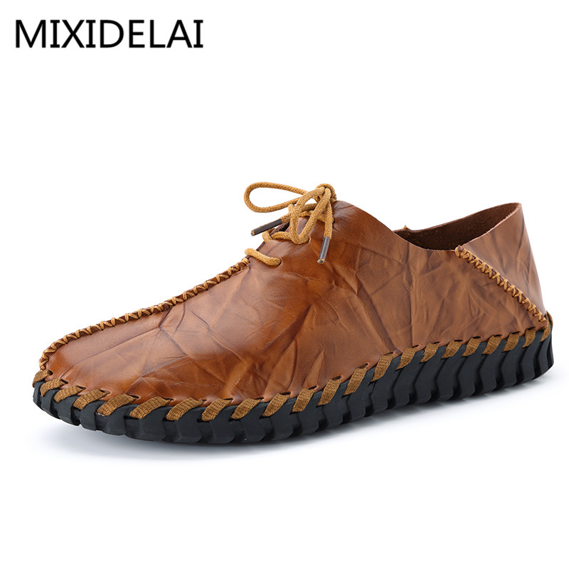 Brand 2017 High Quality Brand Genuine Leather Men Flats, Men Driving Shoes Men Loafers, Lace Up Men Moccasin top brand high quality genuine leather casual men shoes cow suede comfortable loafers soft breathable shoes men flats warm