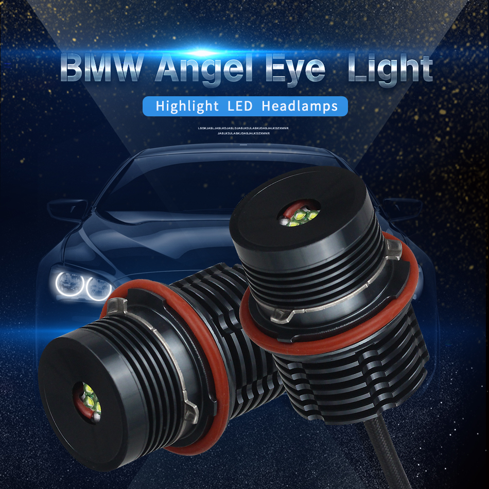 2PCS 20W 4 CREE LED Chips/Bridgelux Angel Eyes White for BMW E65 E87E39 E53 E63 E64 E60 E61 Super Bright Car Front Light Lamp2PCS 20W 4 CREE LED Chips/Bridgelux Angel Eyes White for BMW E65 E87E39 E53 E63 E64 E60 E61 Super Bright Car Front Light Lamp