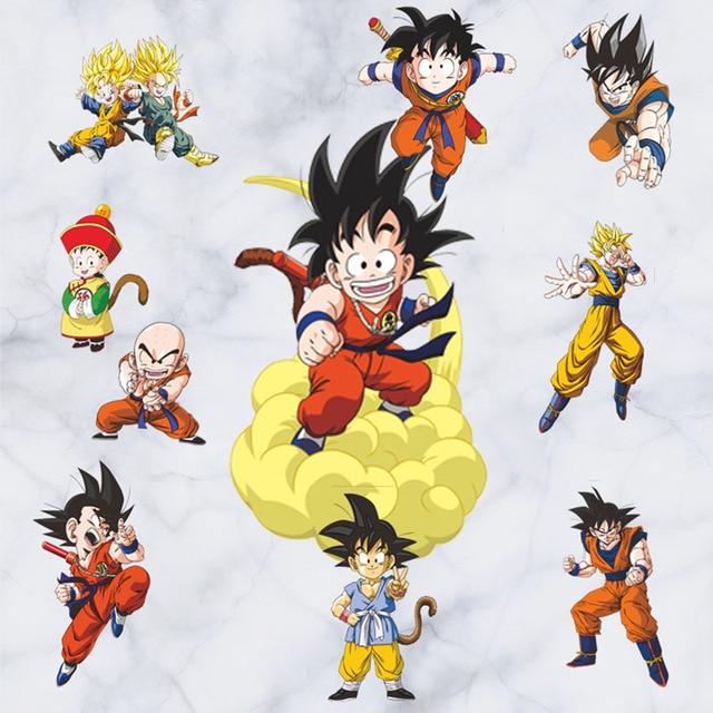 6045cm Dragon Ball Super Saiyan Anime Sticker 3D Visual Effect Son Goku Kakarotto