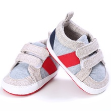 Infant Toddler Newborn Shoes Baby Girl Boy First Walkers Sport Mix Color Hook Loop Baby First Walkers