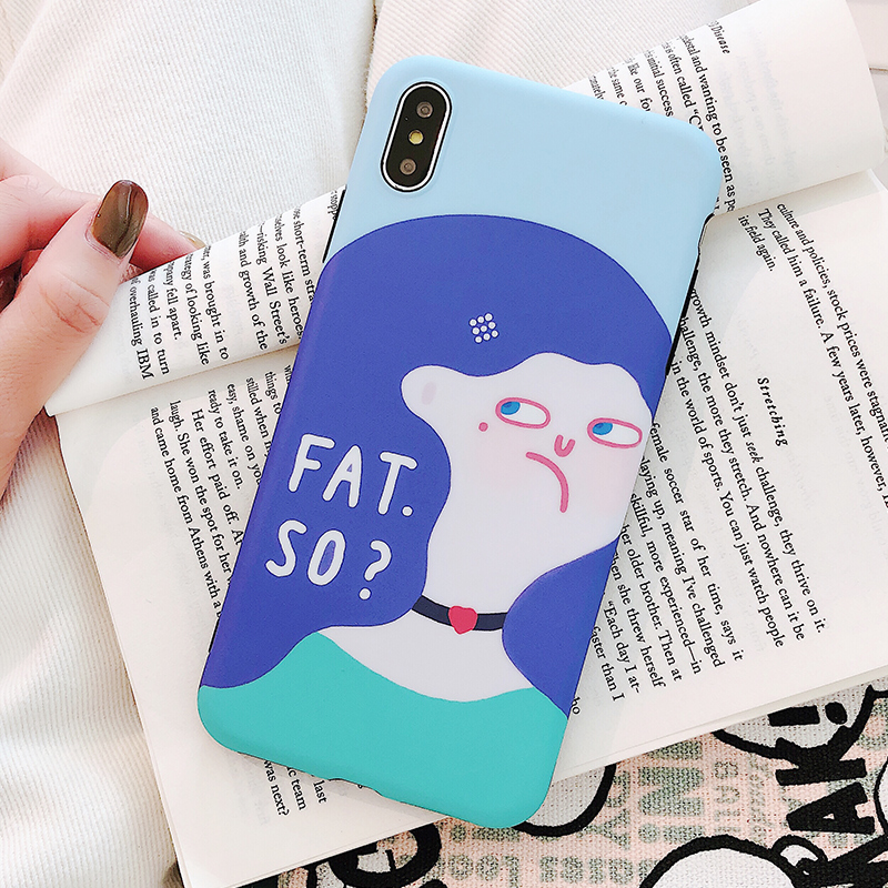 US $3 29 10% OFF Illustrator Blue long hair is beautiful GirlPhone Cases  for iphone X XS XR XSMax Soft Tpu Back Cover Cases for iphone 7 8 7plus -in
