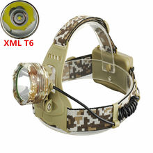 High power LED Headlamp 2000Lumens CREE XML T6 LED 3-Modes 18650 Head Torch Flashlight For Camping Fishing