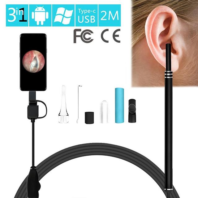 3-in-1 Ear Cleaning Endoscope HD Visual Multifunctional Earpick With Mini Camera Ear Health Care For Children