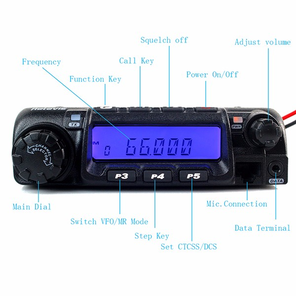 Retevis RT-9000D VHF 66-88MHz Mobile Radio (8)
