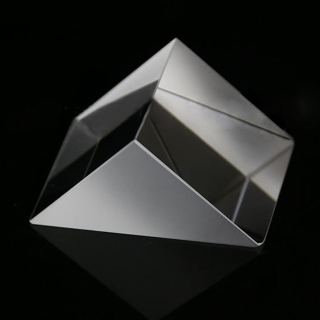 10*10*10mm Optical Glass Triangular Prisms Right Angle Isosceles Prisms Lens Optical K9 Glass Material Testing Instrument