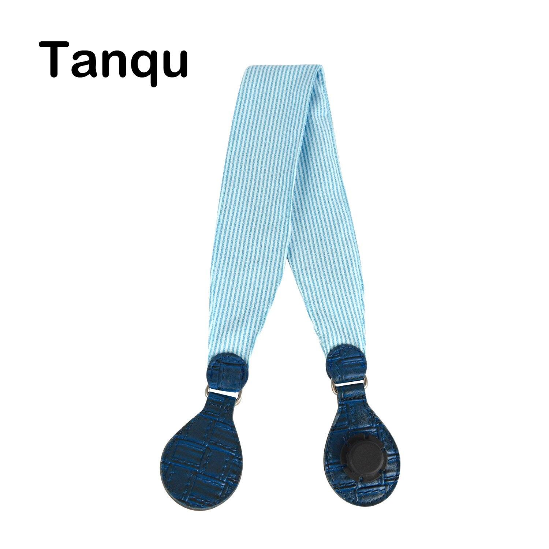 Tanqu 1 Piece Soft Floral Fabric Handle With Patchwork Drop End For Bag O Bag Handles For EVA Obag Handbag Women's Bags