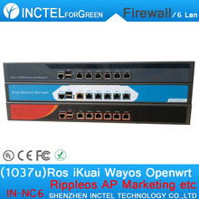 Intel PCI E 1000M 6 82583v Dual Core 1037U Routing Software Flow Control RIPPLEOS Openwrt Firewall