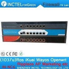 Intel PCI-E 1000 М 6*82583 В Dual Core 1037U Маршрутизации Программное Управление Потоком RIPPLEOS Openwrt Шасси Брандмауэра
