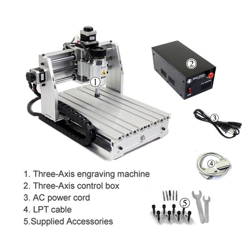 Bureau bricolage mini CNC machine de gravure bois routeur mach3 contrôle pour PCB PVC etc - 3