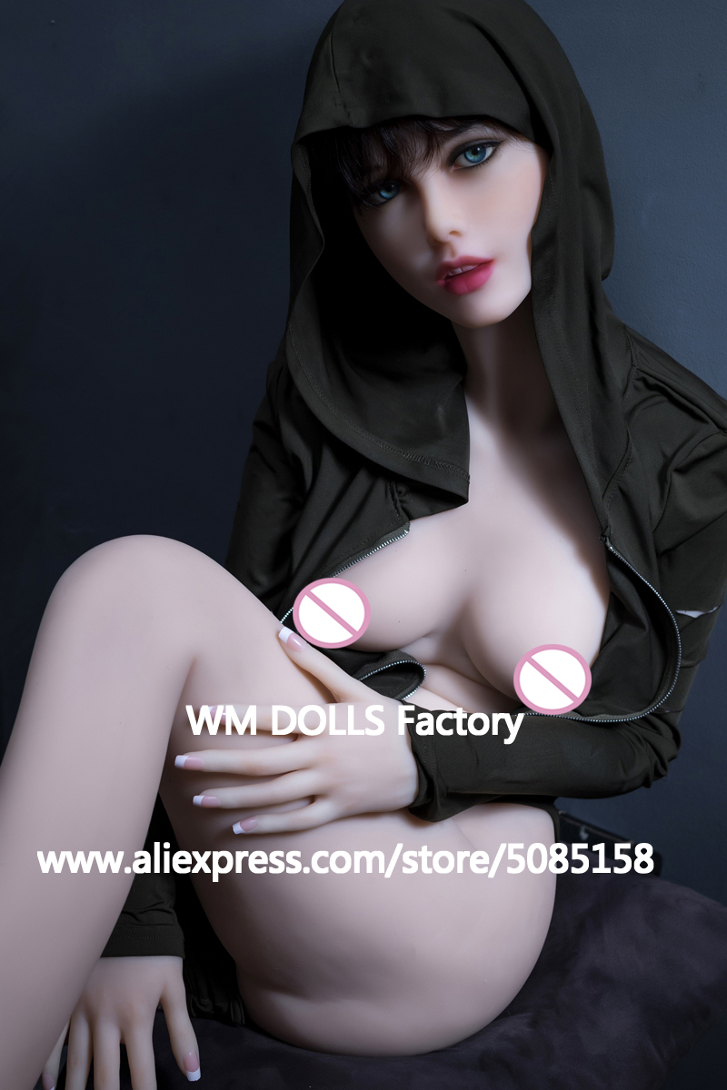 WMDOLL 168CM Top Quality Full Silicone Sex Doll For Men Sexy Dolls Realistic vagina small breast love doll masturbator adult toy-in Sex Dolls from Beauty & Health