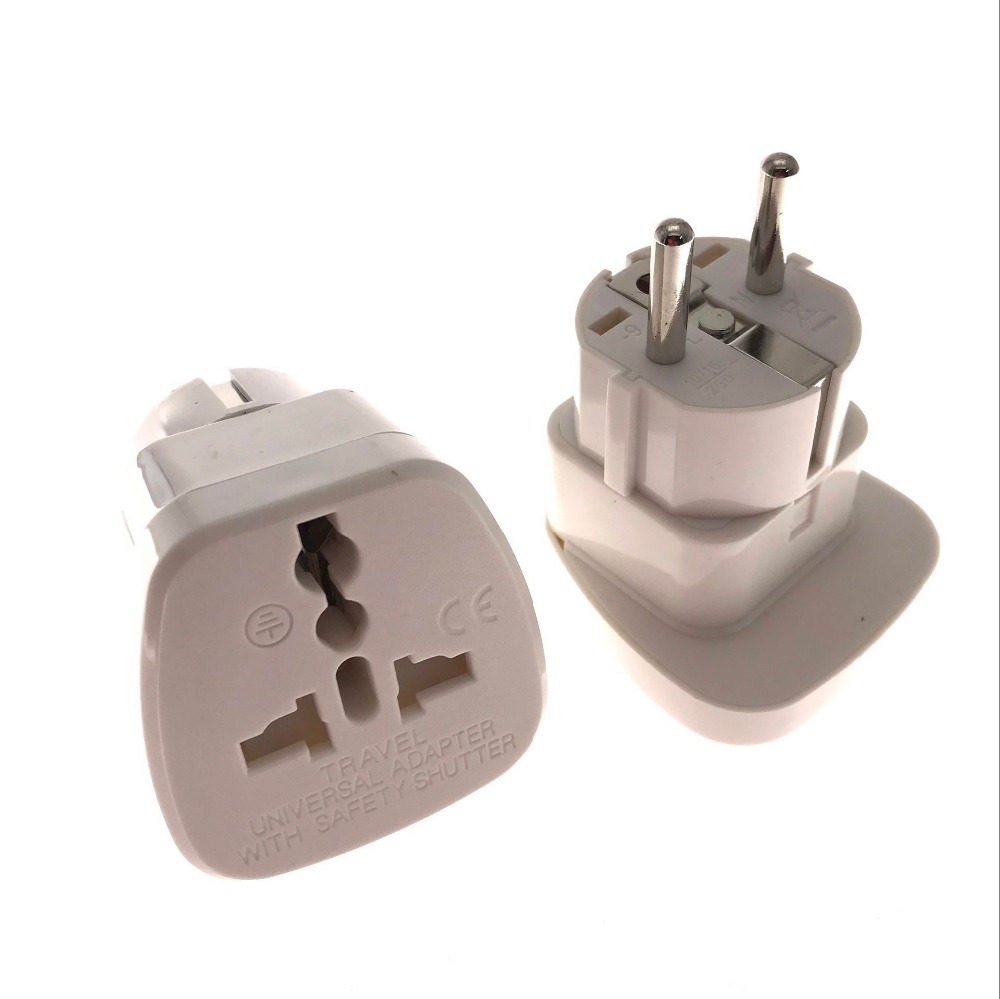 b9c78b83bc0 White EU German Plug Adapter UK British US AU To European Euro Europe AC  Travel Power Adapter Converter Plug Electrical Socket