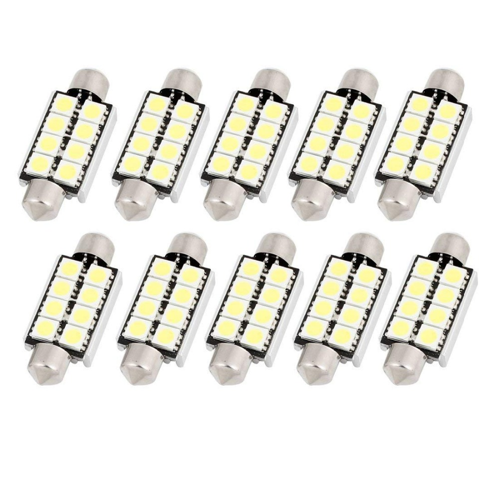 10pcs High Quality Car Festoon Dome 31mm 36mm 39mm 41mm 8 LED 2835 SMD CANBUS No Error Auto Interior Reading Map Lights Lamps