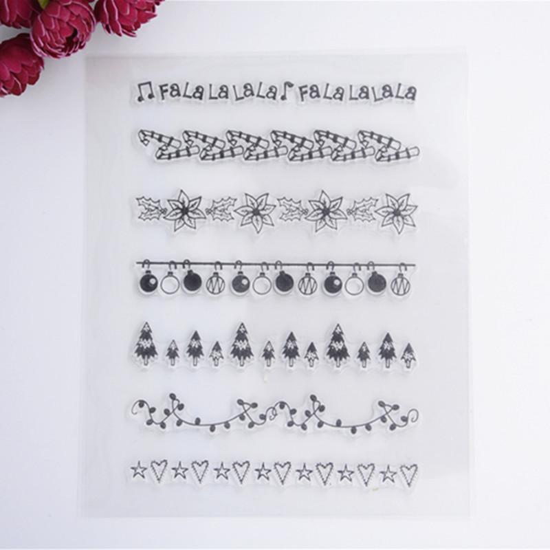 2016 New Scrapbook DIY Photo Album Cards Transparent Acrylic Silicone Rubber Clear Stamps Sheet Lace Ribbon scrapbook diy photo album account transparent silicone rubber clear stamps 20x28 5cm big size wedding