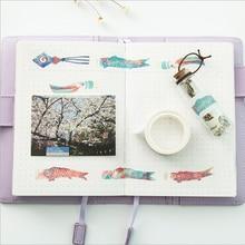 20mm * 7m kawaii Carp Washi Tape DIY decoration scrapbooking planner masking tape adhesive tape label sticker stationery недорого