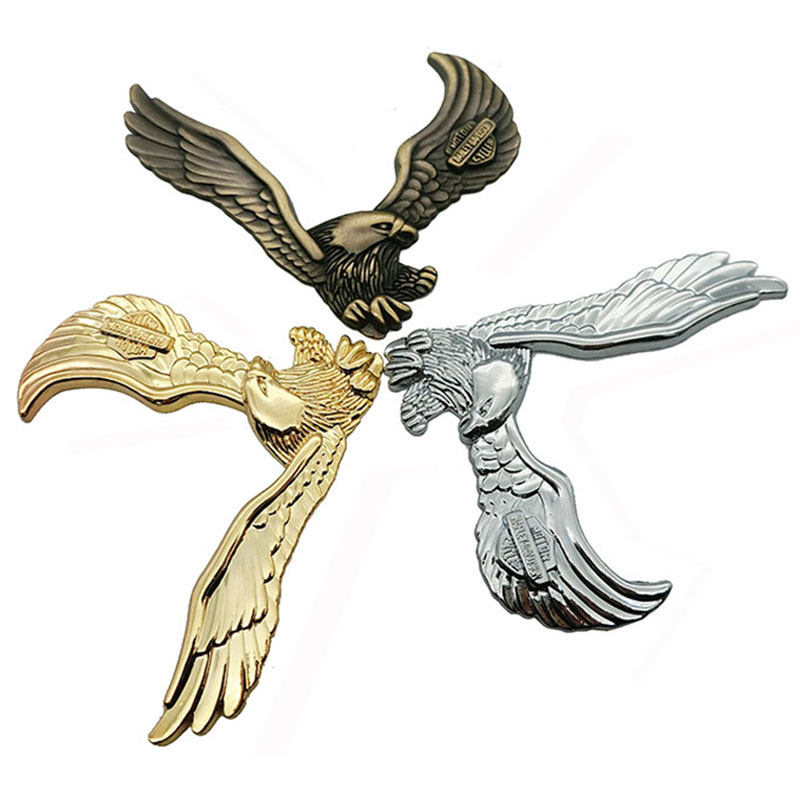 1PCS Car Decoration Animal Stickers Logo Metal 3D eagle Aluminium Emblem Badge Decal Motorcycle Auto Styling Car Accessories in Car Stickers from Automobiles Motorcycles