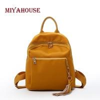Miyahouse Fashion Candy Color Backpacks Female Casual Portable Travel Rucksack Korean Tassel Design School Bag For Teenager Gir