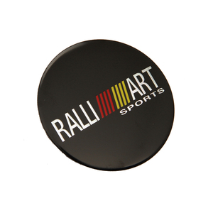 Image 2 - 56.5mm ralliart alumínio roda centro hub tampa emblema adesivo para mitsubishi asx lancer pajero outlander l200 evo eclipse galant
