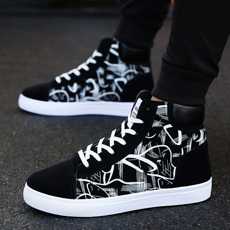 Men Shoes Fashion Men Vulcanized Shoes Sneakers Men Casual Shoes High Quality Footwear Lace Up Canvas Shoes Male Tenis Masculino(China)