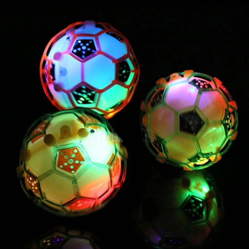 Peradix Children LED Flashing Light Up Jumping Ball Football Soccer Kid Learning Toy Childrens Funny Gift High Quality