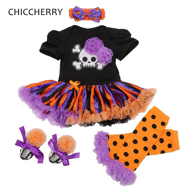Pumpkin Lantern Baby Halloween Costumes Lace Romper Dress Leg Warmers Shoes Headband Newborn Tutu Sets Girls Halloween Outfits new baby girl clothing sets lace tutu romper dress jumpersuit headband 2pcs set bebes infant 1st birthday superman costumes 0 2t