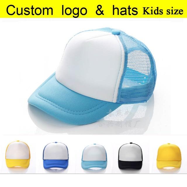 35f5065ac33 10pcs A lot Trucker Cap Child Summer Children Net Candy Color baseball hats  Boys Mesh Sun caps Kids hats Casual Girl hat Peaked