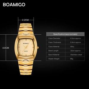 Image 5 - Boamigo homens relógios de luxo de moda quartzo relógio de ouro de aço inoxidável portátil de negócios relógio de pulso masculino relógio relogio masculino