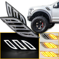 For Ford Raptor F150 2016 2017 2018 Fender Vent Side Marker Light LED Sequential DRL with turn Signal