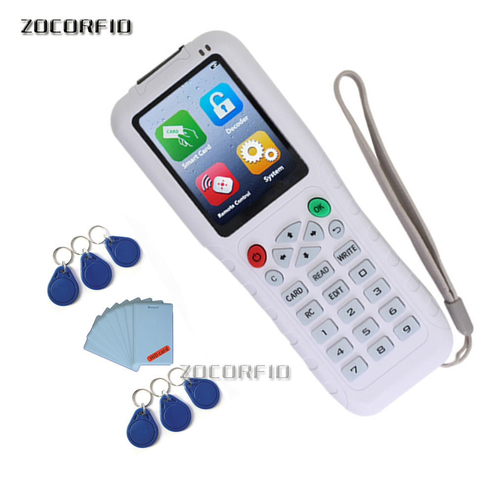 Handheld ZX-copy3 125KHz/13.56MHZ RFID Duplicator Copier Writer Programmer Reader