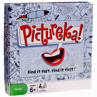 English family party Pictureka board game spot it cards game