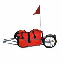 С одним колесом велосипедный прицеп с бесплатной сумкой может нагрузить 88LB, велосипед, Чемодан), 16 дюймов большой колесный грузовой велосипедный прицеп