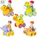 Barato bebé toys 1 unid figura tire hacia atrás coche de dibujos animados de juguete para empujar e ir motor de fricción animales cars fun toys regalo de cumpleaños los niños 366X