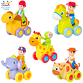 Cheap Baby Toys 1pc Figure Pull Back Cartoon Car Toy Push and Go Friction Powered Animal Cars Fun Toys Kids Birthday Gift 366X
