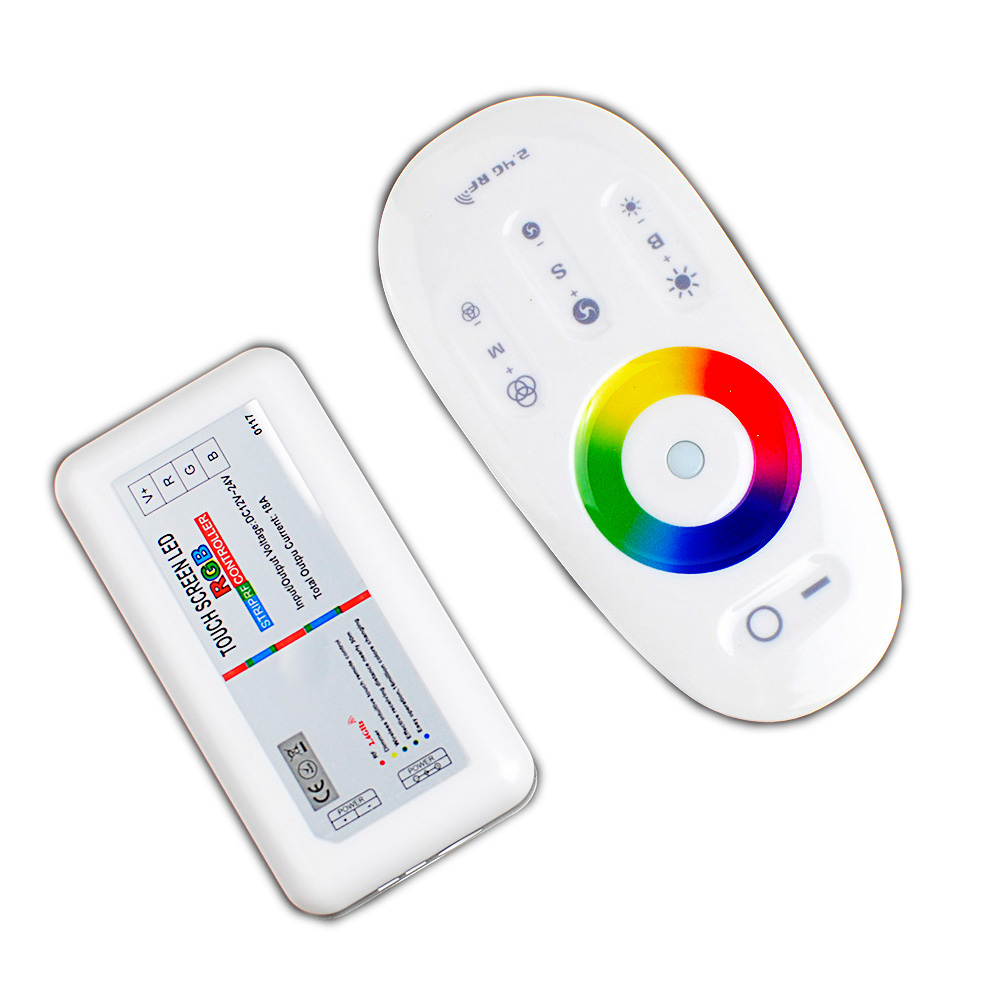 2.4 G Touch Screen LED RGB Controller For LED Strip-Blub-Downlight DC12-24V 6A/Channel RF Remote Controller