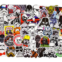 50pcs/set Star Wars Graffiti Stickers For Computer PS4 Pad Phone Laptop TV Fridge Bicycle Waterproof Decal Sticker(China)