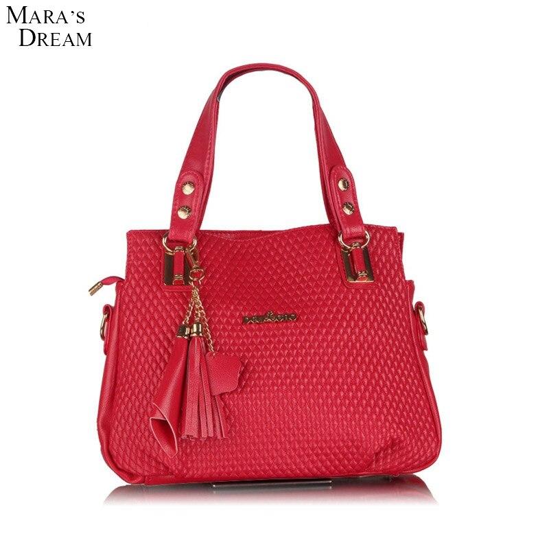 ФОТО Mara's Dream Bags Handbags Women Brands Soft PU Leather Zipper Tassel Soild Color Big Capacity Women Shoulder Bag Messenger Bag