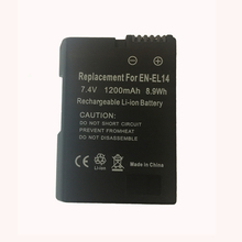 EN-EL14 1200mAh Battery for Nikon DF D5300 D5200 D5100 D3300 D3200 D3100 D300 D90 for COOLPIX P7100 P7200 P7700 P7800 P7000